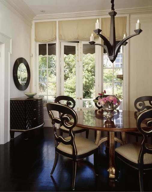 classic and elegant small dining room eclectic dining room