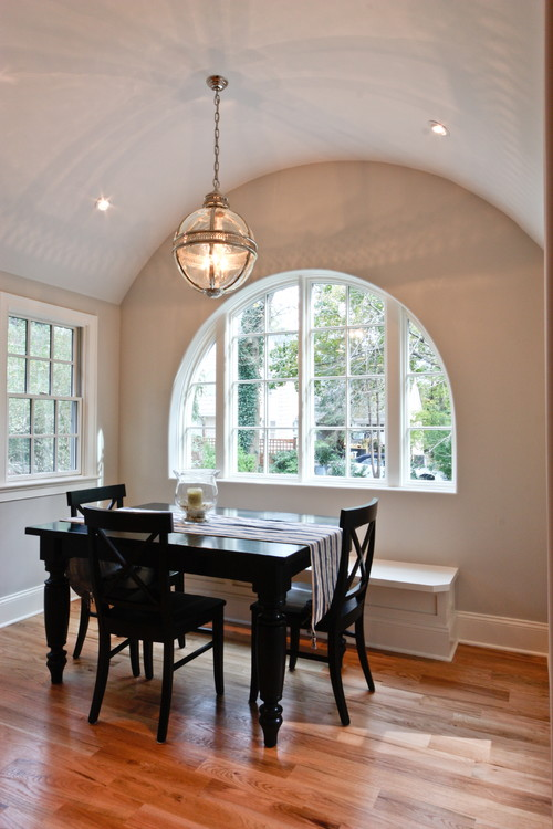 Classic Coastal Colonial Renovation - Breakfast Nook contemporary kitchen