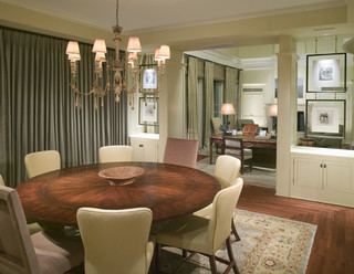 Classic Southern Shingle Style Home on Lagoon traditional dining room