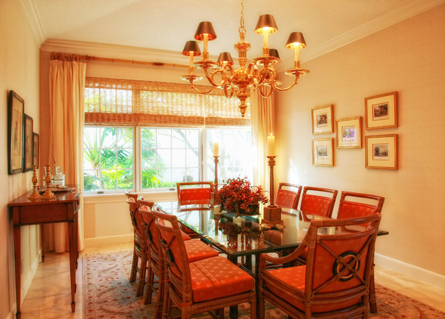Classic Traditional Tropical Dining Room Other Metro