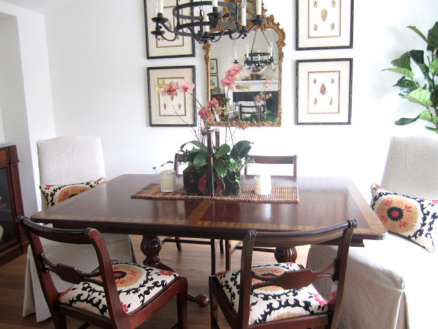 Classically casual dining transitional dining room for Updating a traditional dining room