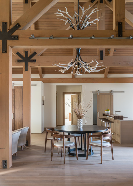 Clear Creek Ranch Contemporary Dining Room Other