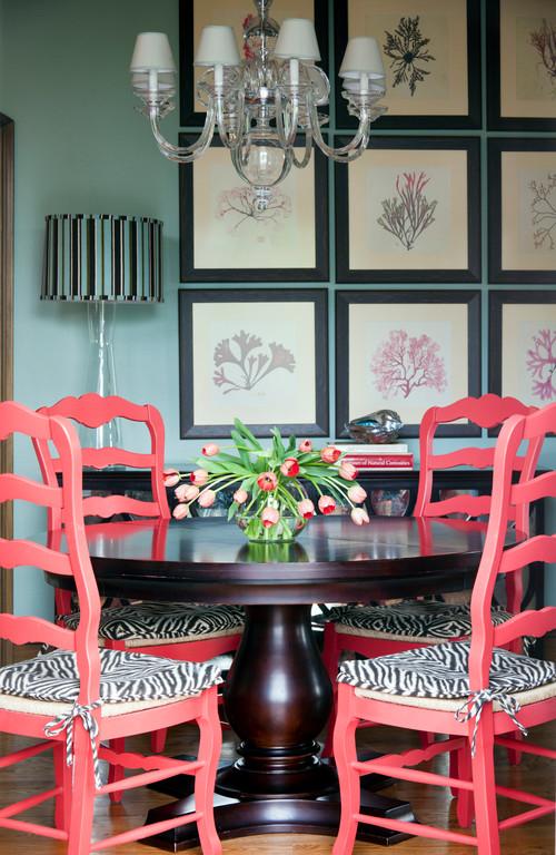 interior design color trend coral