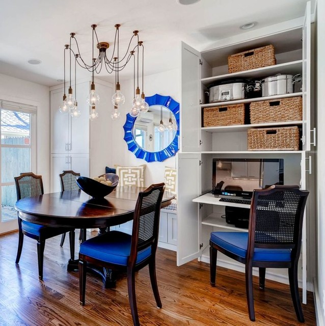 Clever storage solutions for a small space contemporary dining room denver by beautiful - Small dining room storage ...
