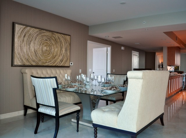 Client Projects transitional-dining-room