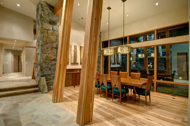 Cliff Line Road  -  Golden CO contemporary-dining-room