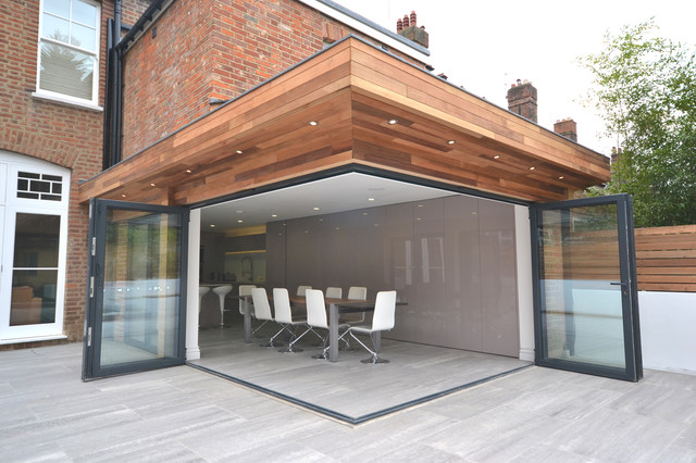 Clifton Road Period Refurbishment And Modern Extension Contemporary Dining Room London