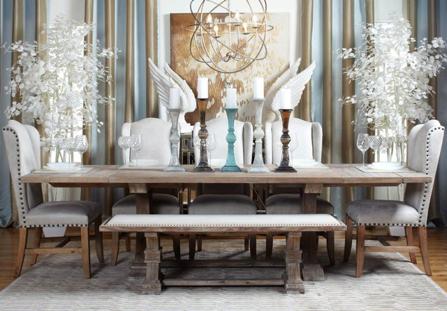 Coastal Chic Dining Contemporary Dining Room