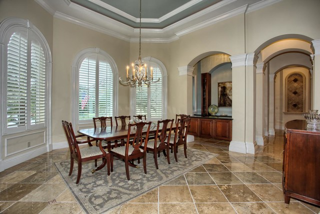Coastal chic updated traditional for Update traditional dining room
