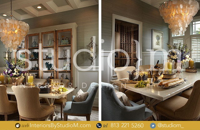 Coastal Couture tropical-dining-room