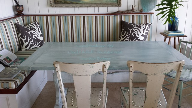 Coastal Farmhouse Table Beach Style Dining Room
