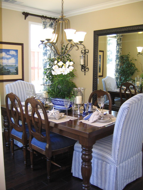 Coastal Inspired dining room - traditional - dining room - san