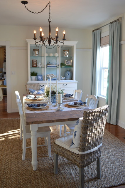 Coastal Dining Room Lights coastal inspired dining room - beach style - dining room - boston