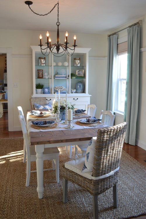 5 ideas for adding coastal style town country living for Beach dining room ideas