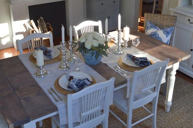 Coastal Table Decor: Coastal Inspired Dining Room