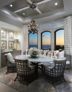 Coastal Kitchen And Breakfast Room Beach Style Dining