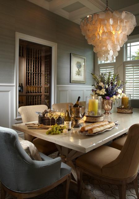 coastal living davis island interior design tropical dining room