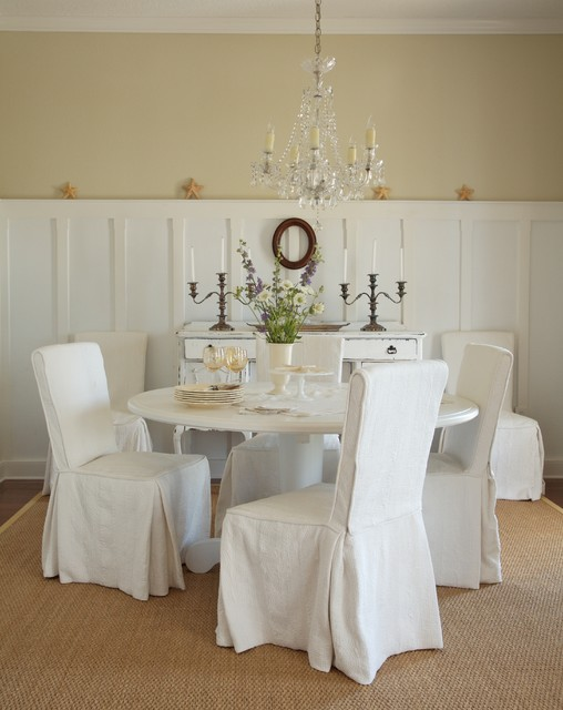 coastal living residence - shabby-chic style - dining room - tampa