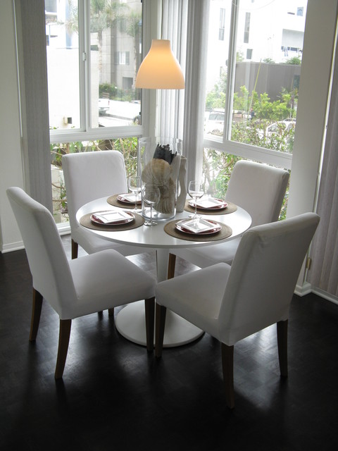Coastal style dining room modern dining room los for Dining room tables los angeles
