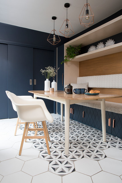 Coastal Terraced House eclectic-dining-room