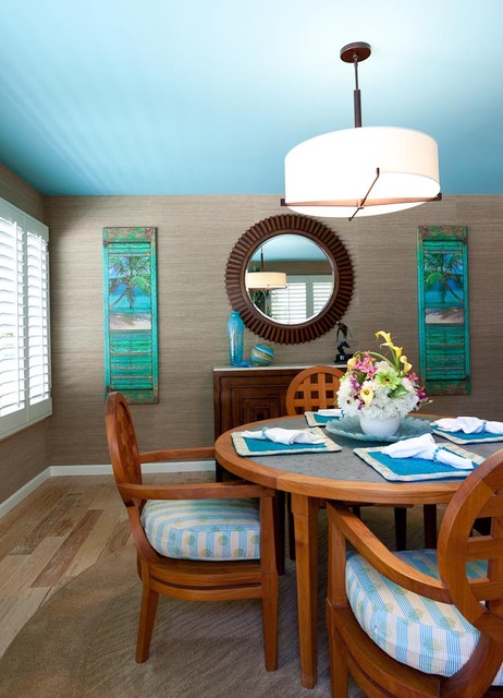 Coastal Theme by Karen Grace Interiors tropical dining room
