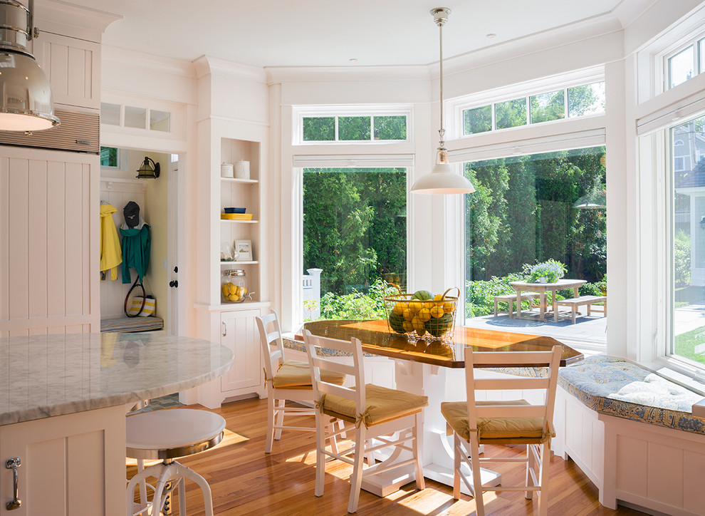 Inspiration for a victorian kitchen/dining room combo remodel in Providence