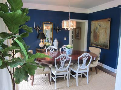 cobalt blue dining room - transitional - dining room - nashville
