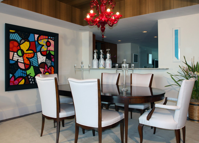 Coconut Grove Residence contemporary-dining-room