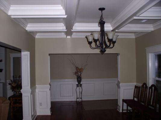 Coffered ceiling - Dining Room - charlotte - by Gardner interiors