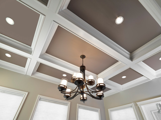 Coffered Ceiling In Dining Room Craftsman Dining Room