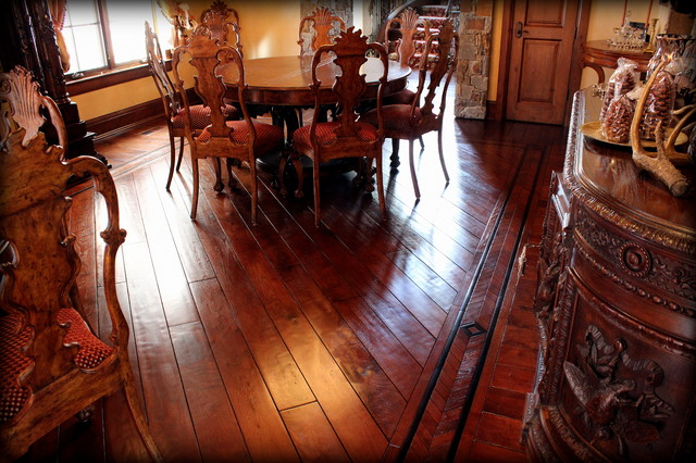 Cohen - Hand-Scraped Walnut traditional-dining-room