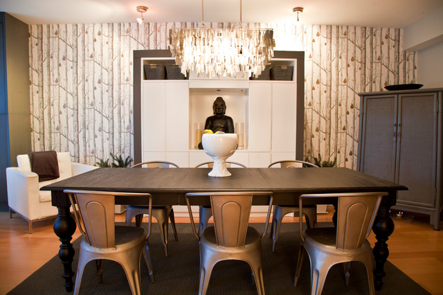 Cole And Sons Woods And Pears Modern Dining Room