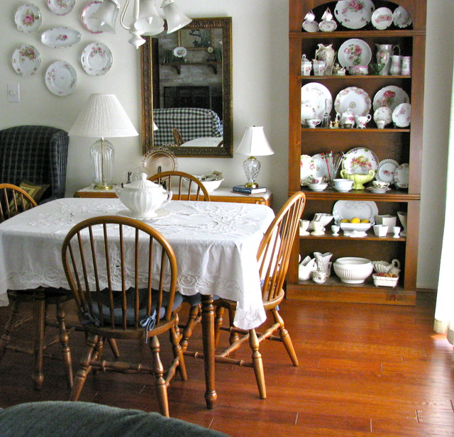 eclectic dining room Collection of Vintage and Antique China