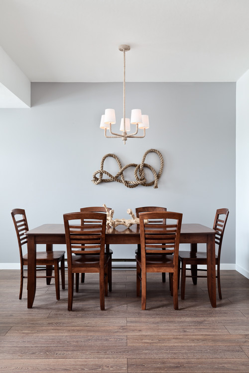 Tie in texture cottage bungalow for Houzz dining room wall art