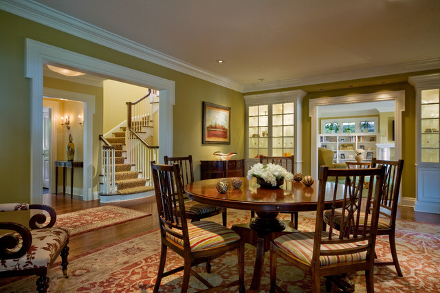 colonial dining rooms | Colonial renovation dining room - Traditional - Dining ...