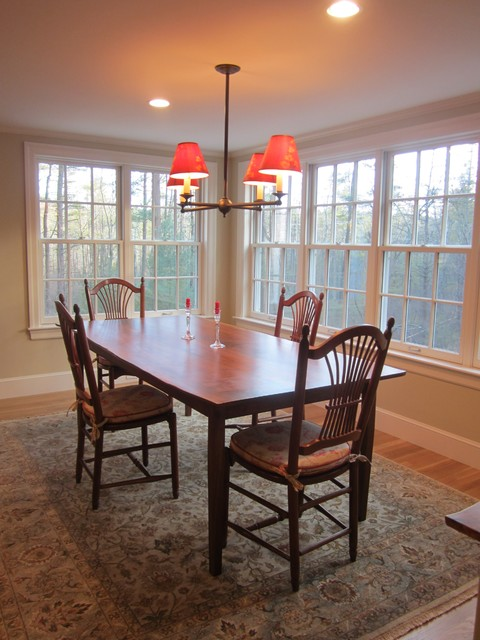 Colonial Renovation contemporary-dining-room
