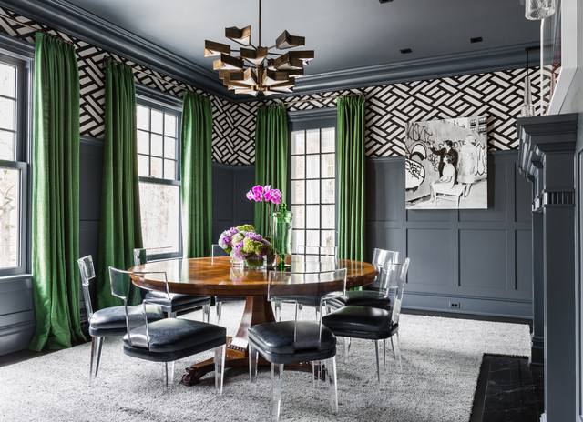colonial revival classique chic salle manger new york par alisberg parker. Black Bedroom Furniture Sets. Home Design Ideas