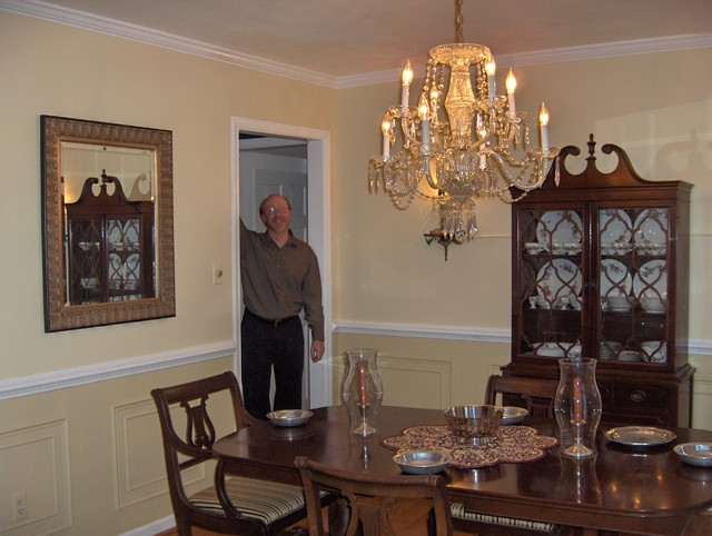Colonial style updated traditional dining room other for Update traditional dining room