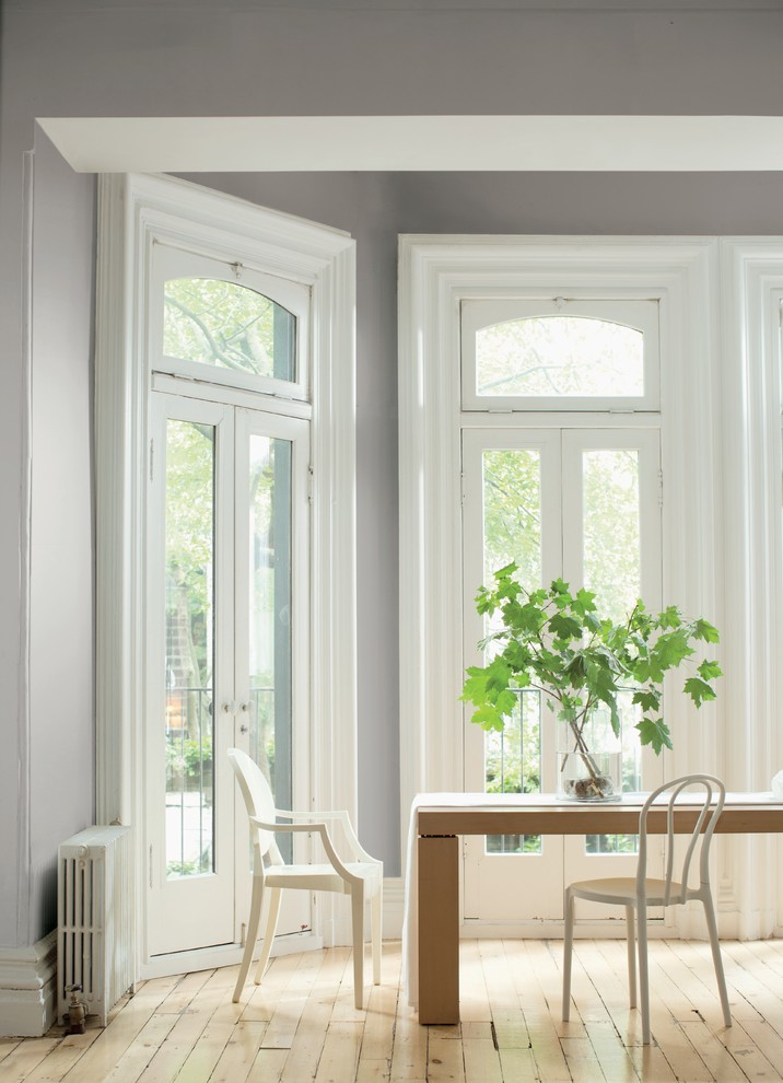 Color Trends 2015 Silver Fox 2108 50 Chantilly Lace Oc 65 Contemporary Dining Room New York By Benjamin Moore