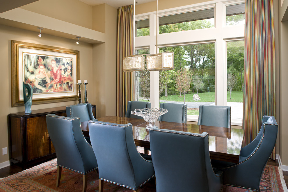 Colorful Dining Space Contemporary Dining Room