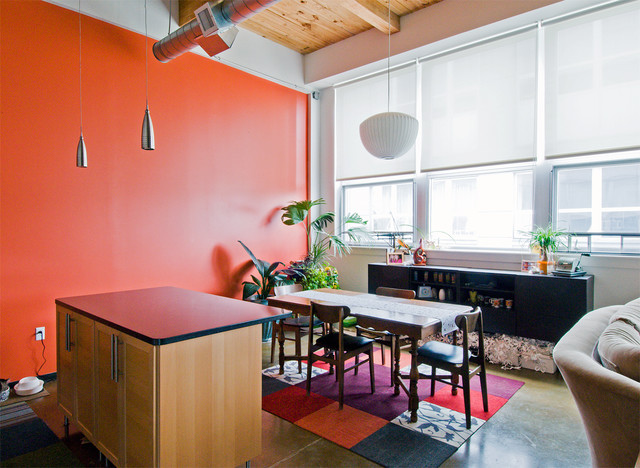 Colorful Loft contemporary-dining-room