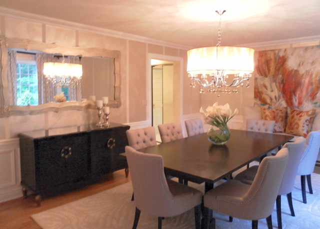 Comfortable elegance modern dining room new york for Dining room design questions
