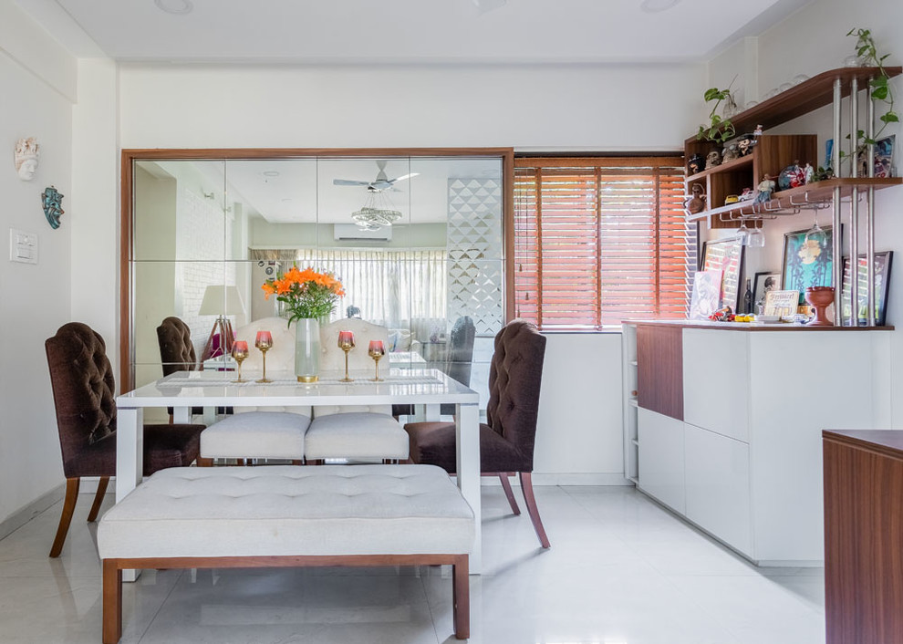 Compact Budgeted Stylish 2bhk Indian Dining Room Mumbai By Lk Arts Photography