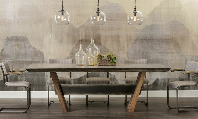 Concrete Chic Bonham Dining Traditional Dining Room Houston - Concrete dining room table