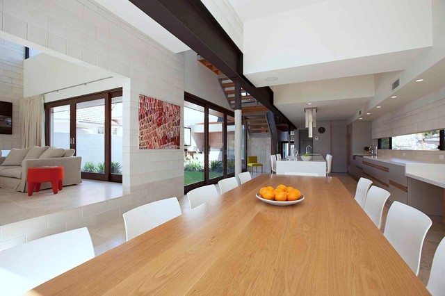 Concrete Cool, Clayfield - Contemporary - Dining Room ...