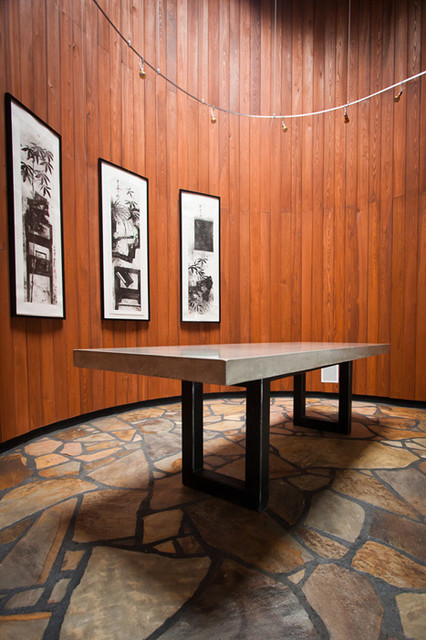 Concrete Dining Table Top modern-dining-room