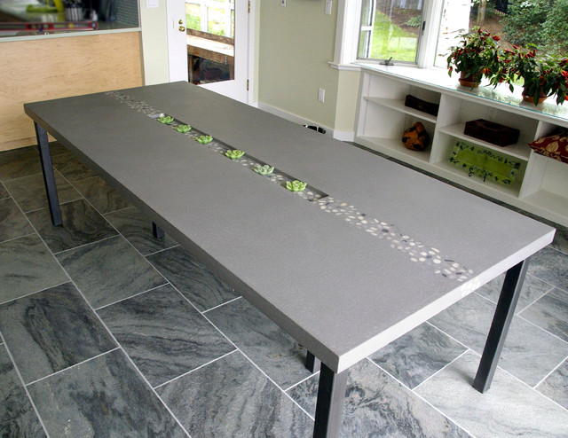 Concrete Rock Dining Table By Trueform, Concrete Dining Room Table