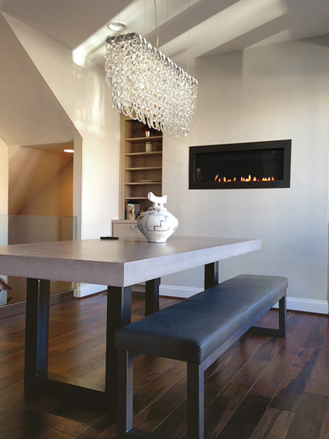 concrete zen dining table contemporary dining room. Black Bedroom Furniture Sets. Home Design Ideas