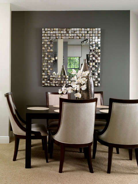Condo living contemporary dining room tampa by for Decorating contemporary dining room