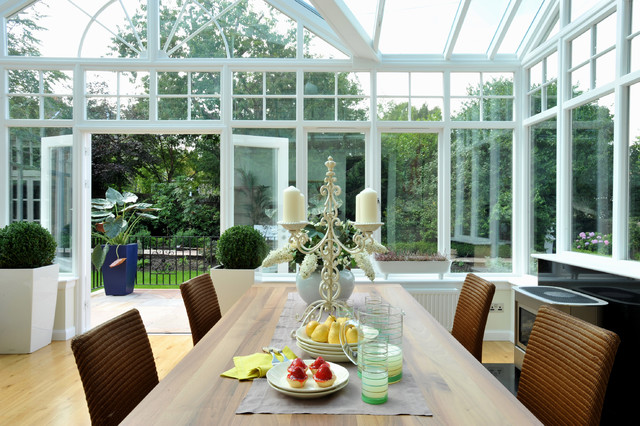 Conservatory/Family Space eclectic-dining-room